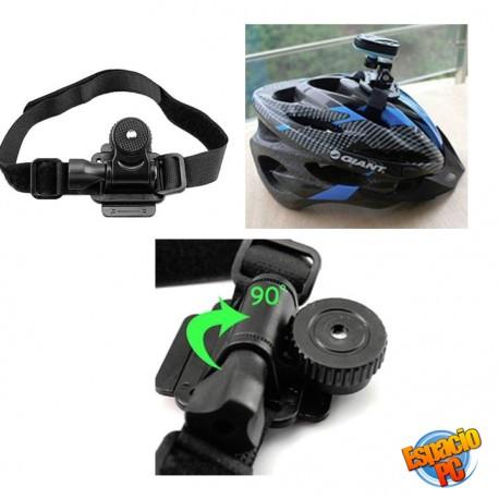 Soporte para casco cámaras de acción